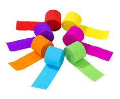 Talking Tables RAIN-STREAMER Regenbogen Papier Luftschlangen (7Pk), Paper, Verschiedene Farben
