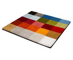 Kleine Wolke Cubetto Badteppich, Polyacryl, Mehrfarbig, 60 x 60 cm