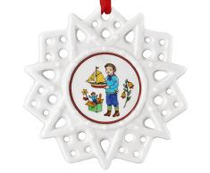 Hutschenreuther 02248-723438-27618 Porzellan-Schmuckstern Spielzeug Durchmesser 7,5 cm, bunt, 11,5 x 11,5 x 1,5 cm
