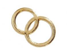 efco Hochzeit Ringe Wachs Dekoration Gold Brilliant, 30Â mm