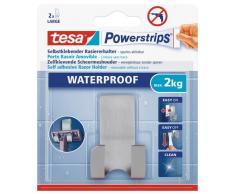 tesa Rasiererhalter, wasserfest für Dusche und Bad, Metall, wieder ablösbar