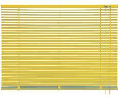 mydeco 60 x 175 cm Aluminium Jalousie Gelb; inkl. Bedienstab, Deckenträger + Befestigungsmaterial Innenjalousie Sonnen- und Sichtschutz; fein regulierbar