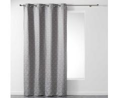 Homea Vorhang mit Ösen, Polyester, Polyester, grau, 260x140 cm