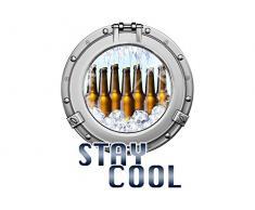 Graz Design 721257_30 Wandsticker Sticker Kühlschrank für Küche Stay Cool Bullauge Bierflaschen (Größe=38x30cm)
