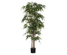 MICA Decorations Bambus im Kunststofftopf Kunstpflanze, Polyester, grün, 90 x 90 x 210 cm