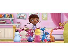 AG Design FTDh 0650 Doc McStuffins Disney, Papier Fototapete Kinderzimmer - 202x90 cm - 1 Teil, Papier, multicolor, 0,1 x 202 x 90 cm