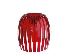 koziol Pendelleuchte Josephine XL, Kunststoff, transparent rot, 44 x 44 x 48 cm