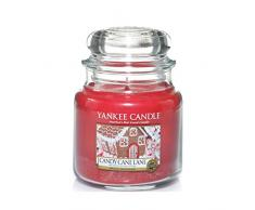 YANKEE CANDLE Candy Cane Lane Duftkerze im Glas, rot, 9.5 x 9.5 x 13.8 cm