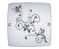 Rabalux 3892 Blossom, Deckenleuchte, Weiß-Chromfarbene Schraube
