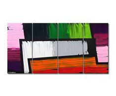 WandbilderXXL c180 Das Wandbild Structure of Colors 160 x 80 cm