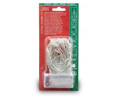 Konstsmide 1408-103 LED Lichterkette / für Innen (IP20) / VDE geprüft / Batteriebetrieben: 2xAA 1.5V (exkl.) / mit Schalter und 6h Timer / 20 warm weiße Dioden / transparentes Kabel