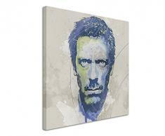 Paul Sinus Art Dr_House_Aqua_60x60cm Wandbild Leinwand, 90 x 50 x 3 cm, mehrfarbig