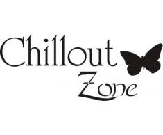 INDIGOS WG10044-70 Wandtattoo w044 Chillout Zone Chilln Chillen Entspannung 80 x 32 cm, schwarz