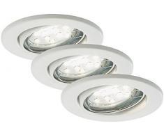 Briloner Leuchten LED Einbaustrahler, Einbauleuchte, Deckenspot, LED Einbauspot, Deckeneinbauleuchte, Deckeneinbaustrahler, Einbaulampe, Einbaustrahler Set, Einbaulampen Decke, LED Einbauleuchten, schwenkbar