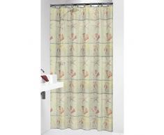 Sealskin Textil Duschvorhang Elba, Farbe: Terrakotta, B x H: 180 x 200 cm