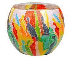 Himmlische Düfte Geschenkartikel CC218 Tischdekoration, People Windlicht Glas 11 x 11 x 9 cm, bunt