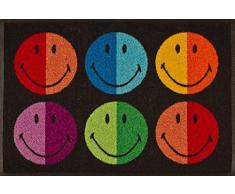 Wash + Dry 052524 Fußmatte Smiley Colours 50 x 75 cm
