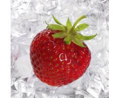 Eurographics DG-DT5177 Deco Glass, Glasbild, Strawberry On Ice, 30 x 30 cm