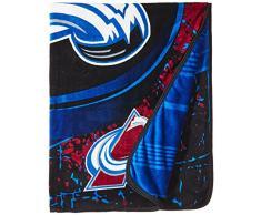 NHL Ice Dash Micro Raschel Überwurf, 116,8 x 152,4 cm, unisex - erwachsene, kastanienbraun, 46-Inch by 60-Inch