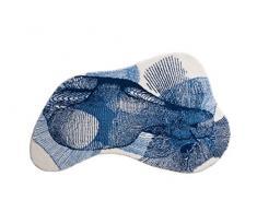 Grund Karim Rashid Exklusiver Designer Badematte 100% Polyacryl, Ultra Soft und saugfähig, Badteppich Rutschfest, ÖKO-TEX-Zertifiziert, 5 Jahre Garantie, Karim 27, Badteppiche 90x150 cm, blau