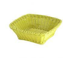 Saleen Mehrzweck-Korb, Gastrotauglich, Quadratisch, 23 x 23 x 9 cm, Kunststofffaser, Lime, 02096537101