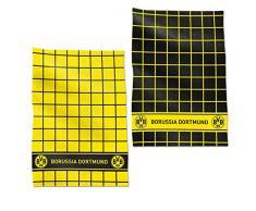 BVB Geschirrhandtuch Set, Baumwolle, Schwarz / Gelb, 50 x 70 x 1 cm, 2-Einheiten