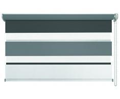 mydeco® Duo-Rollo Fensterrollo Klemmfix ohne Bohren, Farbe Triple: Weiß, Grau, Anthrazit 120 x 160 cm Seitenzugrollo Doppelrollo inkl. Klemmträger