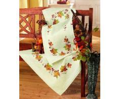 Vervaco Tischdecke Herbst bedruckte Decke/Läufer mit Webrand, Baumwolle, Mehrfarbig, 80.0 x 80.0 x 0.30000000000000004 cm, 1 Einheiten