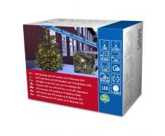 Konstsmide 3612-140 Micro LED Lichterkette/für Außen (IP44) / 24V Außentrafo / 120 warm weiße Dioden / 15 funkelnde Dioden/schwarzes Kabel