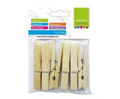 Vaessen Creative 3809-362 Wäscheklammern Holz, Ein farbe, One size