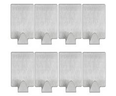 mumbi Handtuchhalter selbstklebend Handtuchhaken ohne bohren Klebehaken rechteckig Edelstahl 8er Set