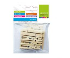 Vaessen Creative 3809-361 Wäscheklammern Holz, Ein farbe, One size