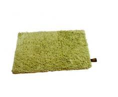 Gözze Teppich, 100% Baumwolle, Wollgarn-Hochfloroptik, 50 x 70 cm, Limone, 1010-5030-7