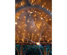 Hellum 565362 LED Lichternetz 200 LEDs warmweiß / 3x3 m/innen & außen/Zuleitung 5 m weiß