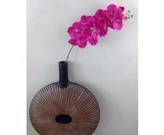 GMMH Orchideenzweig 107 cm XXL dunkel rosa Seidenblumen Kunstblumen künstliche Orchidee wie echt