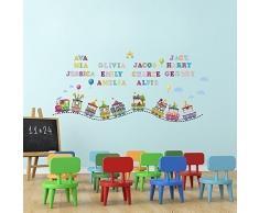Walplus Wand Aufkleber Papier Mauerkunst Sticker Dekoration Foto Zirkus Alphabet Zahlen Kinderzimmer Wohnzimmer - COM