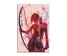 Paul Sinus Art Tomb_Raider_90x60-SA Wandbild Leinwand, 90 x 50 x 3 cm, mehrfarbig