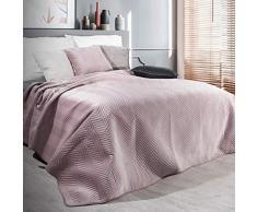 Eurofirany Exklusive Decke Tagesdecke Glamour 200x220 170x210 Steppdecke Bettüberwurf Überwurf (Sofia Pude, 170 x 210 cm), Stoff