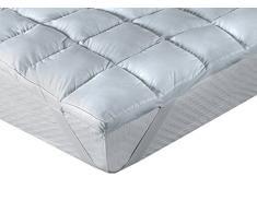 Classic Blanc - Topper / Faser Matratzenauflage Komfort plus, contra-allergen, mittlere Festigkeit, 140 x 200 cm, Höhe 8 cm, Bett 140