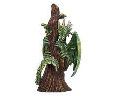 Nemesis Now Anne Stokes Age of Small Forest Dragon Figurine Figur Alter der Drachen, klein, Walddrache, grün, Einheitsgröße