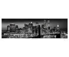 1art1 37052 New York - Manhattan Bei Nacht Tür-Poster (158 x 53 cm)