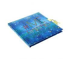 Goldbuch Tagebuch, # (Hashtag) Me, 96 weiße Seiten, 16,5 x 16,5 cm, Schloss mit 2 Schlüsseln, Kunstdruck, Grün, 44302
