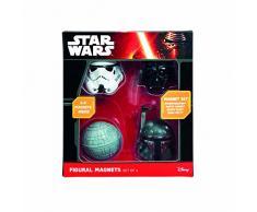 Star Wars Darth Vader/Stormtrooper/Boba Fett/Death Star Kühlschrank Magnete, mehrfarbig, 4 Stück