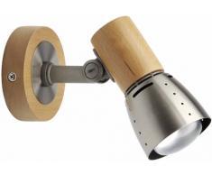 Brilliant Juno Wandspot, 1x E14 maximal 40W, Metall/Holz, buche/eisen 57610/70