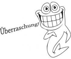 Graz Design 650184_30x23_070 Wandtattoo Badezimmer Klodeckel Aufkleber Spruch Fisch Hai Überraschung (Größe=30x23cm//Farbe=Schwarz)