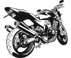 Graz Design 610121_57_070 Wandtattoo Motorrad Speedbike sportlich und schnell Jugendzimmer Wanddekoration 62x57cm Schwarz