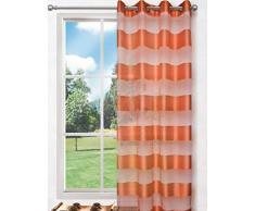 Splendid FLORENCE Konfektion Vorhang mit Ösen, 140 x 245 cm, orange