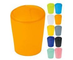Spirella Kosmetikeimer Move Abfalleimer Schwingdeckeleimer | Kunststoff | 2 Liter |Orange