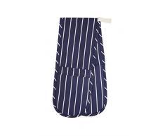 Kitchen Craft Doppelter Ofenhandschuh, blau gestreift