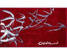 Grund COLANI Exklusiver Designer Badteppich 100% Polyacryl, ultra soft, rutschfest, ÖKO-TEX-zertifiziert, 5 Jahre Garantie, Colani 23, Badematte 70x120 cm, red